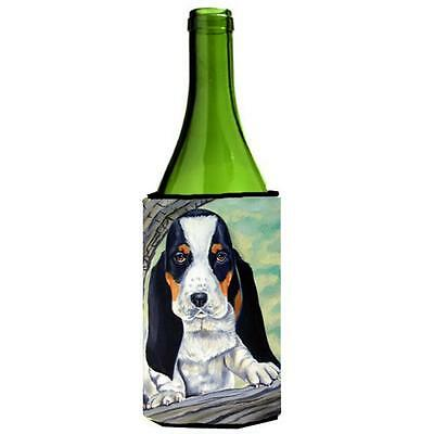 Carolines Treasures Basset Hound On The Branch Wine Bottle Hugger 24 oz.