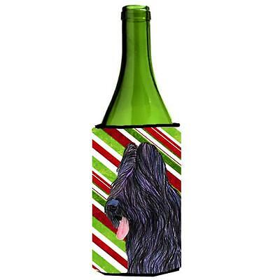 Carolines Treasures Briard Candy Cane Holiday Christmas Wine Bottle Hugger