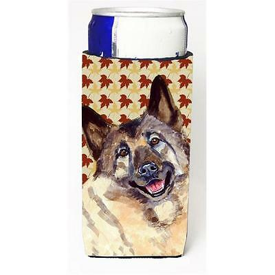 Norwegian Elkhound Fall Leaves Portrait Michelob Ultra s For Slim Cans 12 oz.