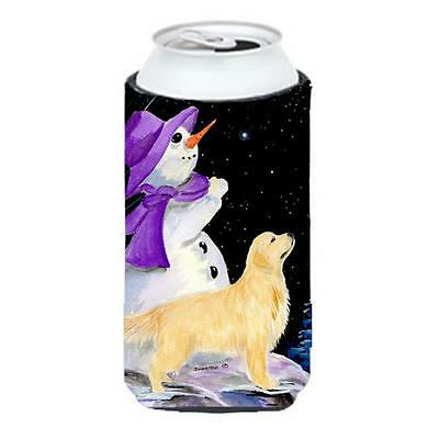 Carolines Treasures Snowman With Golden Retriever Tall Boy Hugger 22 To 24 oz.