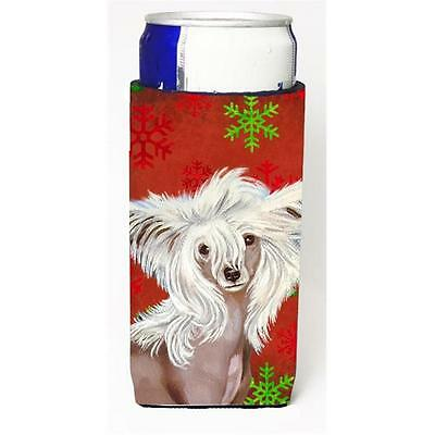 Chinese Crested Red and Green Snowflakes Holiday Christmas Michelob Ultra s f...