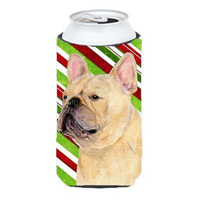 French Bulldog Candy Cane Holiday Christmas Tall Boy Hugger 22 To 24 oz. • AUD 47.47