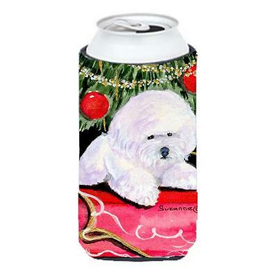 Christmas Tree With Bichon Frise Tall Boy Hugger 22 To 24 oz.
