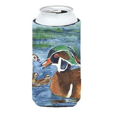 Carolines Treasures KR9024TBC Bird Wood Duck Tall Boy Hugger 22 To 24 oz.