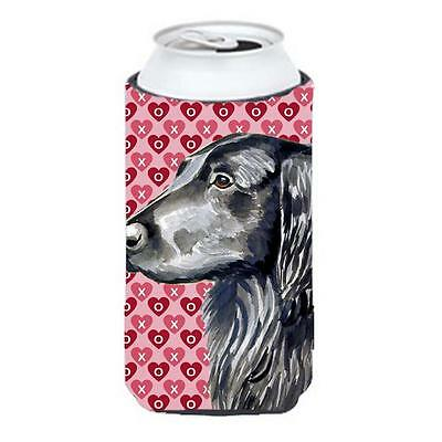 Flat Coated Retriever Love Valentines Day Portrait Tall Boy Hugger 22 To 24 oz.