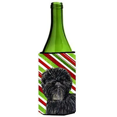 Affenpinscher Candy Cane Holiday Christmas Wine Bottle Hugger 24 oz.