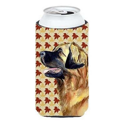 Carolines Treasures Leonberger Fall Leaves Portrait Tall Boy Hugger 22 To 24 oz.