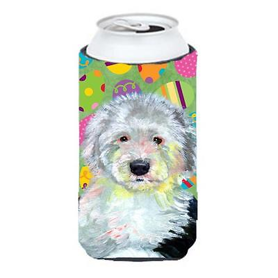 Old English Sheepdog Easter Eggtravaganza Tall Boy Hugger 22 To 24 oz.