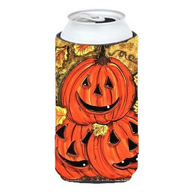 Stack Of Pumpkins Jack-O-Laterns Tall Boy Hugger 22 To 24 oz.