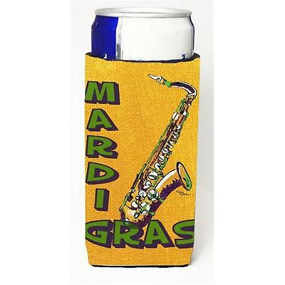 Mardi Grass And Saxaphone Michelob Ultra bottle sleeves For Slim Cans 12 oz.