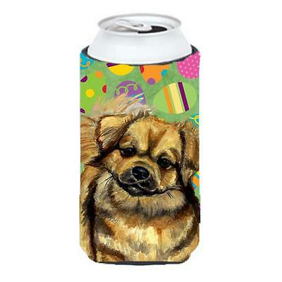 Tibetan Spaniel Easter Eggtravaganza Tall Boy Hugger 22 To 24 oz.