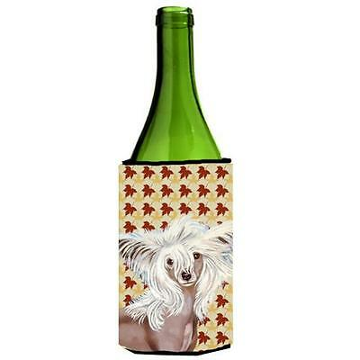 Chinese Crested Fall Leaves Portrait Wine Bottle Hugger 24 oz. • AUD 48.84