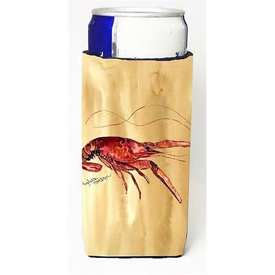 Carolines Treasures Crawfish Sandy Beach Michelob Ultra s For Slim Cans 12 oz.