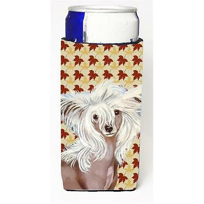 Chinese Crested Fall Leaves Portrait Michelob Ultra s For Slim Cans 12 oz.