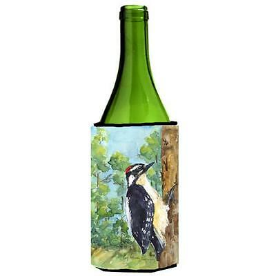 Carolines Treasures KR9020LITERK Bird Downy Woodpecker Wine Bottle Hugger 24 oz.