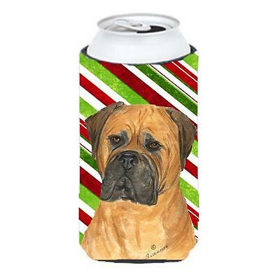 Bullmastiff Candy Cane Holiday Christmas Tall Boy bottle sleeve Hugger 22 To ...
