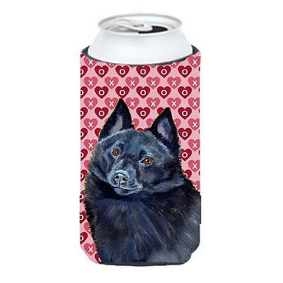 Schipperke Hearts Love And Valentines Day Portrait Tall Boy bottle sleeve Hug...