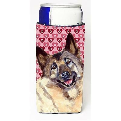 Norwegian Elkhound Hearts Love and Valentines Day Portrait Michelob Ultra bot...