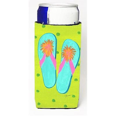 Flip Flops Lime Green Michelob Ultra bottle sleeve for Slim Can