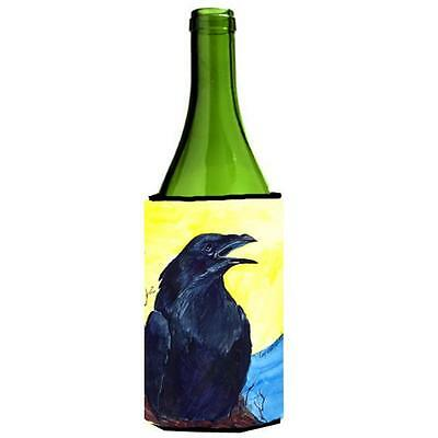Carolines Treasures Bird Black Bird Wine bottle sleeve Hugger 24 oz.