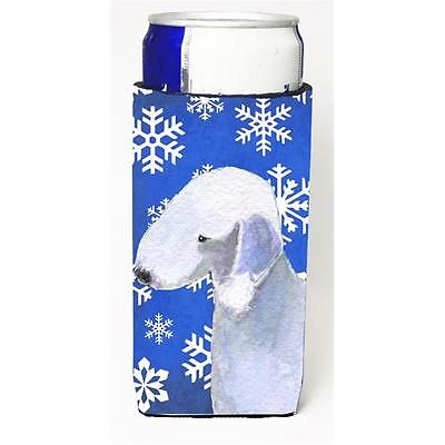 Bedlington Terrier Winter Snowflakes Holiday Michelob Ultra bottle sleeve for...