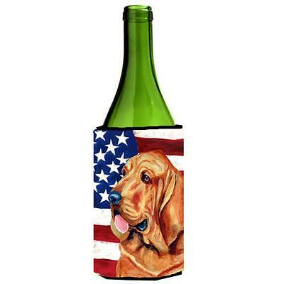 USA American Flag with Bloodhound Wine bottle sleeve Hugger 24 oz.
