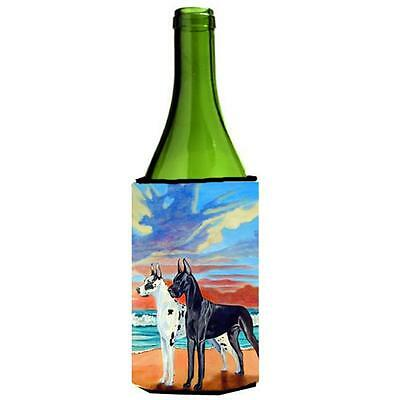 At Sunset Great Dane Harlequin and Black Wine bottle sleeve Hugger