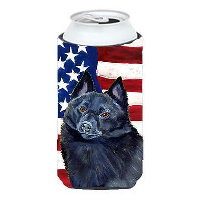 USA American Flag with Schipperke Tall Boy bottle sleeve Hugger 22 to 24 oz.