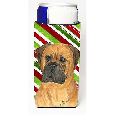 Bullmastiff Candy Cane Holiday Christmas Michelob Ultra bottle sleeves For Sl...