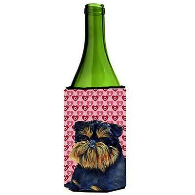 Brussels Griffon Love Valentines Day Portrait Wine bottle sleeve Hugger 24 oz. • AUD 48.26