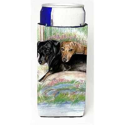 Dachshund Red Black and Tan Michelob Ultra bottle sleeve for Slim Can