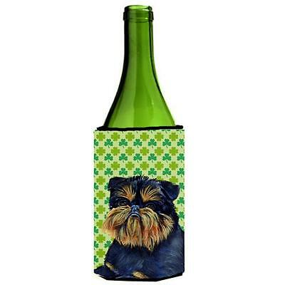 Brussels Griffon St. Patricks Day Shamrock Wine bottle sleeve Hugger 24 oz. • AUD 48.26