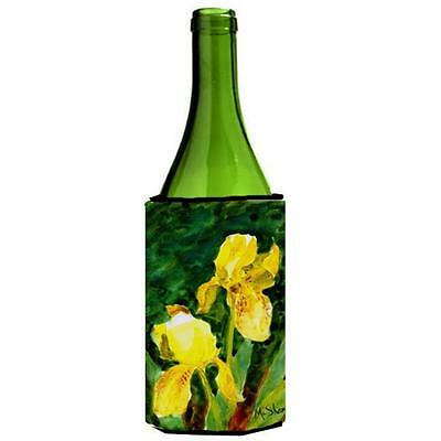 Carolines Treasures MM6050LITERK Flower Iris Wine bottle sleeve Hugger