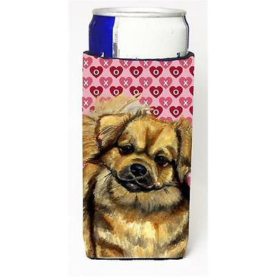 Tibetan Spaniel Hearts Love Valentines Day Michelob Ultra bottle sleeve for S...