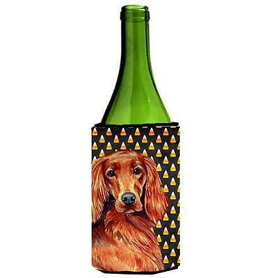 Irish Setter Candy Corn Halloween Portrait Wine bottle sleeve Hugger 24 oz.