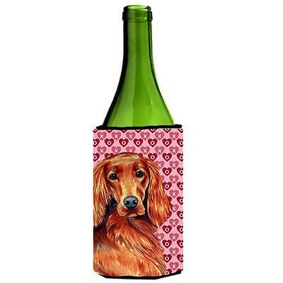 Irish Setter Hearts Love and Valentines Day Portrait Wine bottle sleeve Hugger