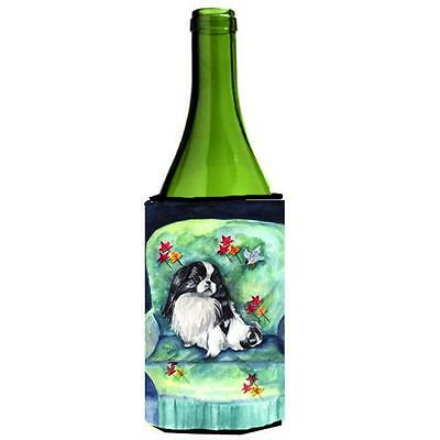 Carolines Treasures Japanese Chin in Mommas Chair Wine bottle sleeve Hugger