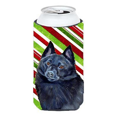 Schipperke Candy Cane Holiday Christmas Tall Boy bottle sleeve Hugger 22 To 2...