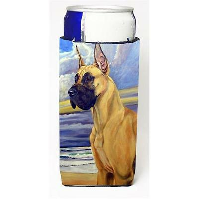 Fawn Great Dane At The Beach Michelob Ultra bottle sleeves For Slim Cans 12 oz.