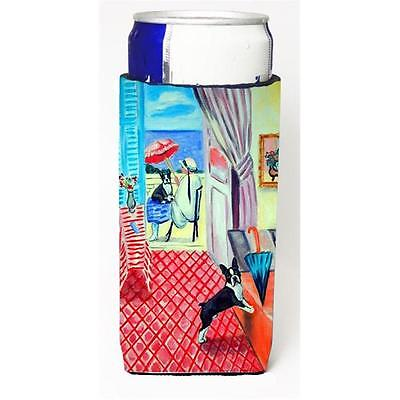 Lady With Her Boston Terrier Michelob Ultra bottle sleeves For Slim Cans 12 oz.