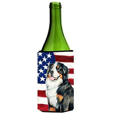 Usa American Flag With Bernese Mountain Dog Wine bottle sleeve Hugger