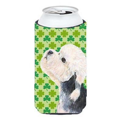 Dandie Dinmont Terrier St. Patricks Day Shamrock Tall Boy bottle sleeve Hugge... • AUD 47.47