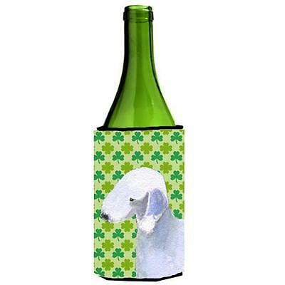 Bedlington Terrier St. Patricks Day Shamrock Wine bottle sleeve Hugger 24 oz.
