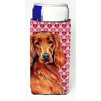 Irish Setter Hearts Love and Valentines Day Portrait Michelob Ultra bottle sl...