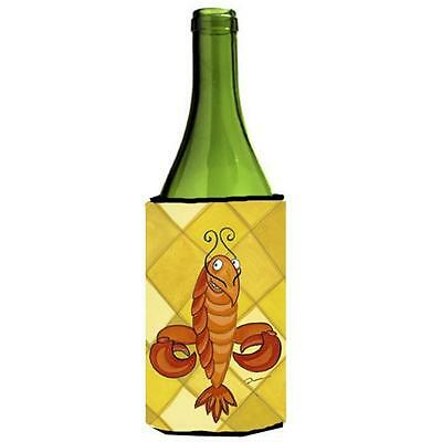 Carolines Treasures LD6112LITERK Crawfish Craw De Lis Wine bottle sleeve Hugger