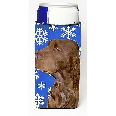 Field Spaniel Winter Snowflakes Holiday Michelob Ultra bottle sleeves For Sli...