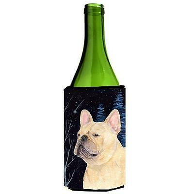 Carolines Treasures Starry Night French Bulldog Wine bottle sleeve Hugger 24 oz.