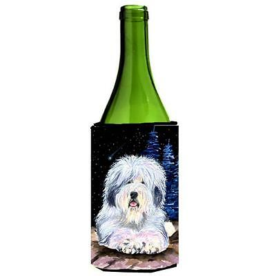 Starry Night Old English Sheepdog Wine bottle sleeve Hugger 24 oz.