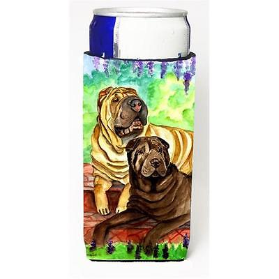Shar Pei Fawn and Chocolate Michelob Ultra bottle sleeves for slim cans 12 oz.