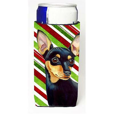 Min Pin Candy Cane Holiday Christmas Michelob Ultra bottle sleeves For Slim C...